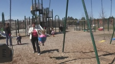 Police say a suspicious man was seen approaching children in Kitchener.