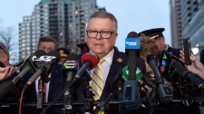 Public Safety Minister Ralph Goodale speaks during a news conference in Toronto on Monday, April 23, 2018. (THE CANADIAN PRESS/Nathan Denette)
