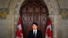 Prime Minister Justin Trudeau makes a statement on the incident involving pedestrians being struck by a van in Toronto, in the Foyer of the House of Commons on Parliament Hill on Tuesday, April 24, 2018 in Ottawa. THE CANADIAN PRESS/Justin Tang