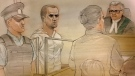 Alek Minassian, 25, is shown in this courthouse sketch. (John Mantha)