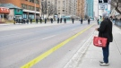 Police sweep Yonge Street the day after a driver drove a rented van down sidewalks Monday afternoon, striking pedestrians in his path in Toronto, Tuesday, April 24, 2018. THE CANADIAN PRESS/Galit Rodan