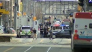 CPS presence on 7 Avenue during Tuesday afternoon's investigation into a suspicious package