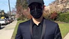 Lions Gate Bridge speeder hides face outside court