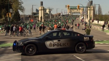 A Vancouver police cruiser is seen during an event in the city.