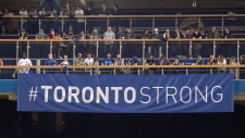 Toronto Strong banner at Rogers Centre