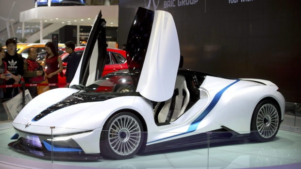 BAIC Arcfox-7 electric sports car in 2016