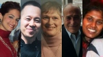 """Left to right, Anne Marie D'Amico, Chul Min """"Eddie"""" Kang, Dorothy Sewell, Munir Abed Alnajjar and Renuka Amarasingha are seen in this combination photo."""