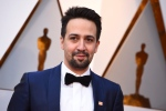 In this March 4, 2018, file photo, Lin-Manuel Miranda arrives at the Oscars at the Dolby Theatre in Los Angeles. Miranda won the Webby for public service and social activism for his work raising money for charities including Puerto Rico relief.(Photo by Jordan Strauss/Invision/AP, File)