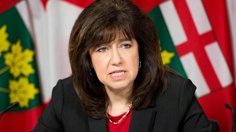 Auditor General Bonnie Lysyk delivers her 2014 report during a press conference in Toronto on Tuesday, December 9, 2014. (Nathan Denette/THE CANADIAN PRESS)