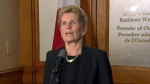 Premier Kathleen Wynne speaks to reporters regarding the latest on the investigation into the Toronto van attack on April 25, 2018.