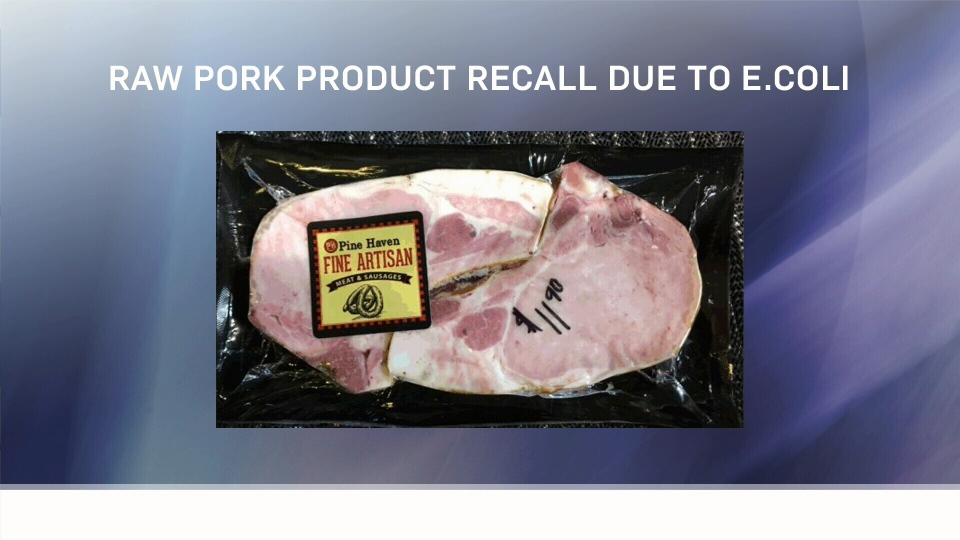 Numerous items were recalled from The Meat Shop at Pine Haven, a Hutterite colony south of Wetaskiwin.