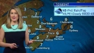 Heather Butts has the Maritime weather forecast for Wednesday, April 25, 2018.