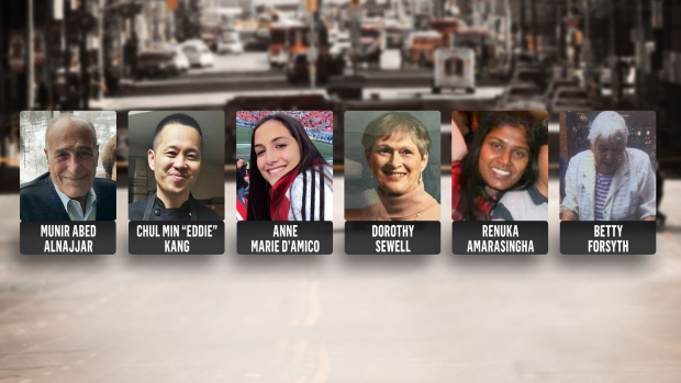Victims of Toronto van attack are shown in this image.
