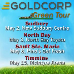 Goldcorp Green Tour 2018 Dates