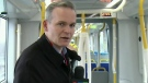 Graham rides the LRT