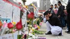 A memorial on Yonge Street in Toronto