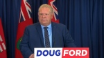 Doug Ford speaks to reporters on April 26, 2018.