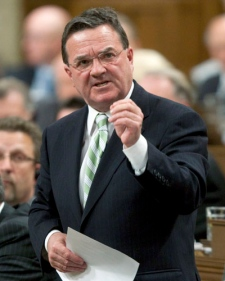 Minister of Finance Jim Flaherty responds to a question during Question Period in the House of Commons on Parliament Hill in Ottawa, Monday, June 2, 2009. (Adrian Wyld / THE CANADIAN PRESS)