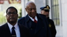 Bill Cosby arrives during jury deliberations in his sexual assault trial, Thursday, April 26, 2018, at the Montgomery County Courthouse in Norristown, Pa. (AP Photo/Matt Slocum)
