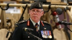 Chief of the Defence Staff General Jonathan Vance speaks at a Canadian Special Operations Forces Command change of command ceremony in Ottawa on Wednesday, April 25, 2018. (THE CANADIAN PRESS/ Patrick Doyle)