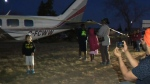 CTV Calgary: Plane towed away