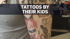 Parents make kids' drawings permanent with tattoos