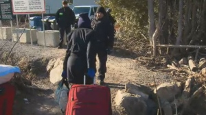 Asylum seekers can easily cross the border into Quebec because the land in Vermont and New York is relatively easy terrain that is often close to small towns accessible by bus.