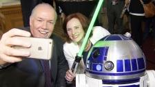 Sci-fi loving B.C. premier meets R2D2