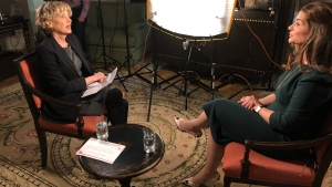 CTV's Ottawa Bureau Chief Joyce Napier speaks with philanthropist Melinda Gates in Ottawa on Thursday, April 26, 2018.