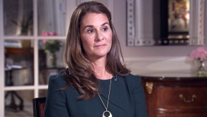Philanthropist Melinda Gates talks to CTV's Ottawa Bureau Chief Joyce Napier in Ottawa on Thursday, April 26, 2018.