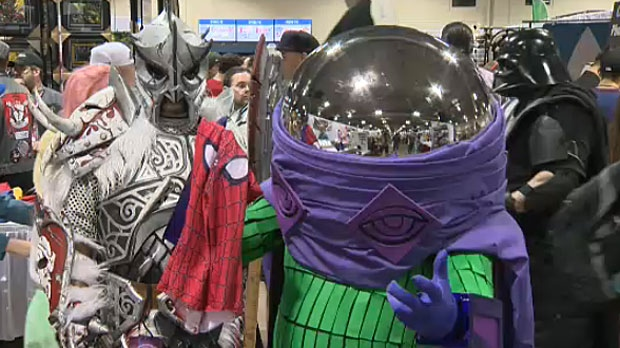 A costume contest will be taking place on Saturday evening at the Calgary Expo but this fan dressed up as Spider-Man villain Mysterio may just steal the show.