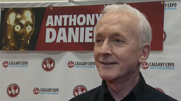 Anthony Daniels, who has played C3PO in all of the Star Wars movies, says coming to conventions like the Calgary Expo is an 'intense experience'.