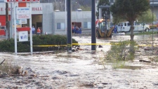 Flooding in Cache Creek