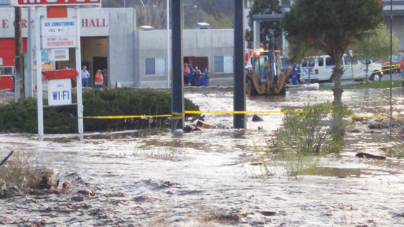 Flooding is seen in Cache Creek, B.C. in this image posted to Facebook by Andrea Walker.