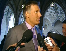 Conservative MP and former cabinet minister Maxime Bernier speaks with CTV News from the halls on Parliament Hill in Ottawa, Wednesday, June 3, 2009.
