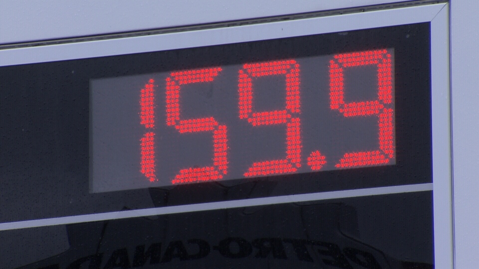 Gas prices reached 159.9 cents per litre at some Metro Vancouver gas stations Saturday, April 28, 2018.