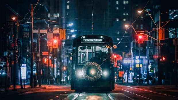 Black TTC streetcar