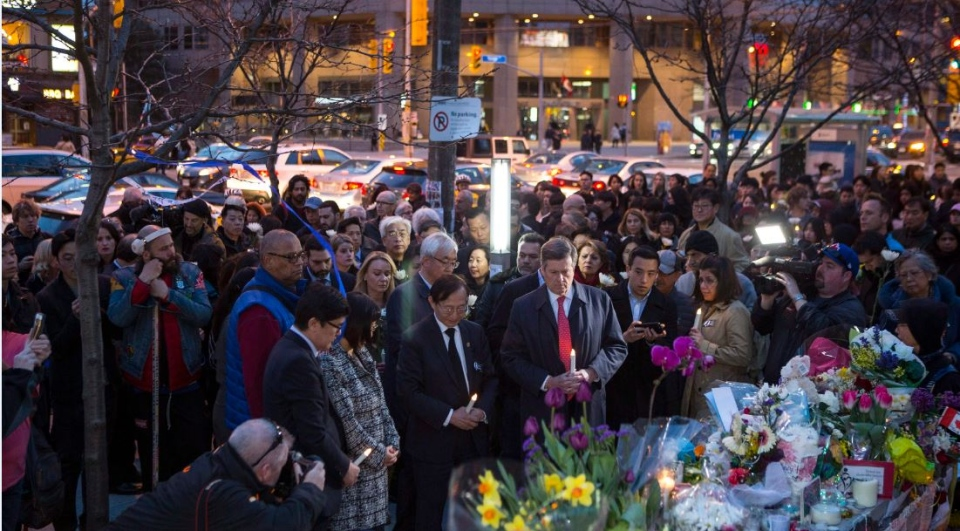 Toronto van attack vigil Friday April 27