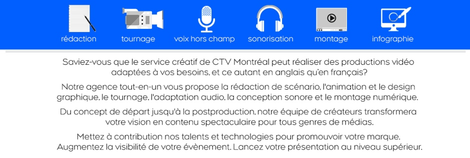 CTV Montreal realise d'impressionantes productions