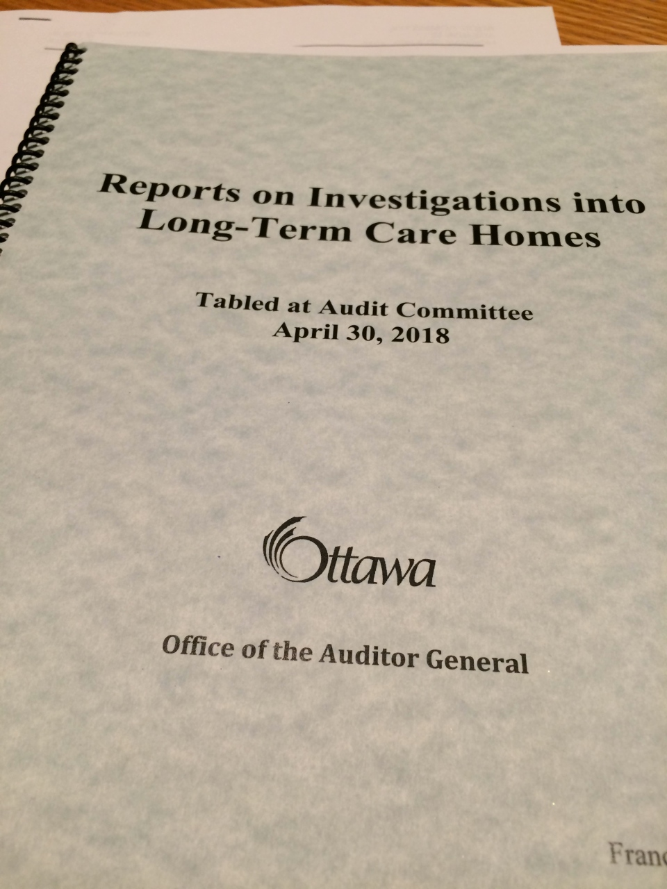 49fc63dbfea2 Ottawa s Auditor General raises concerns about resident safety ...