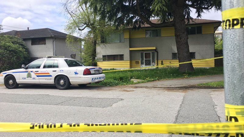 Two bodies were found in this Richmond home early Monday, April 30, 2018. (Penny Daflos / CTV Vancouver)