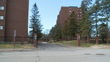 Condo buildings on Southvale Crescent.