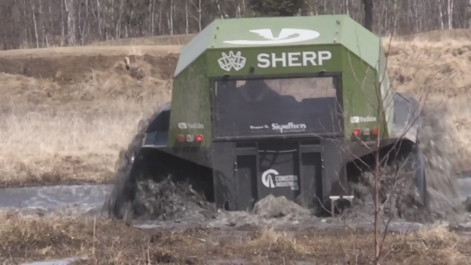 The Sherp is designed to withstand rough terrain