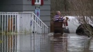 Several communities south of Fredericton are being hit with significant flooding as water levels rise in the Saint John River, swamping roads and residential areas.