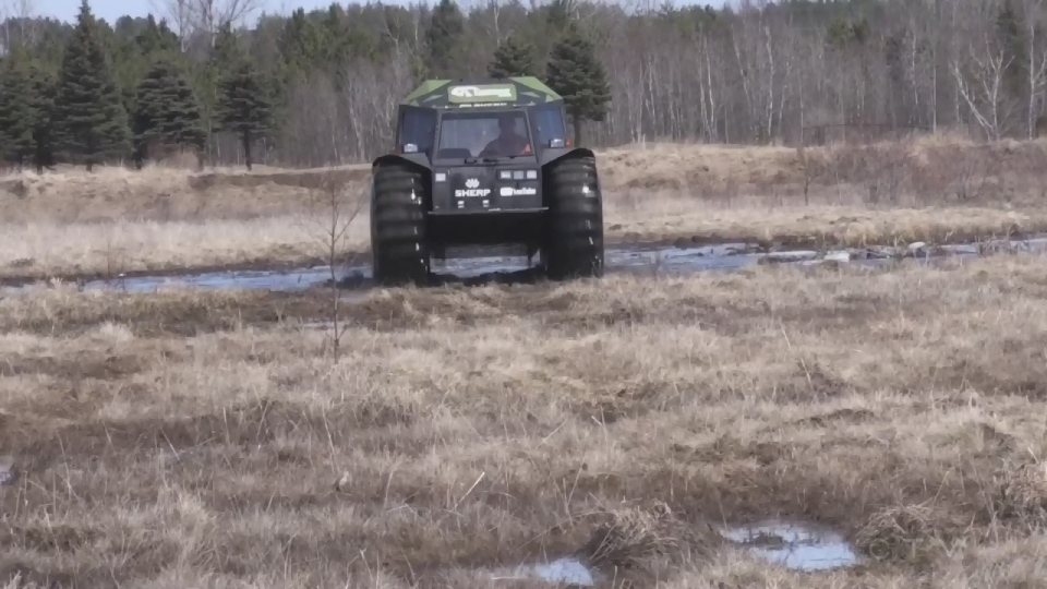 The Sherp helped rescue 9 ATV riders