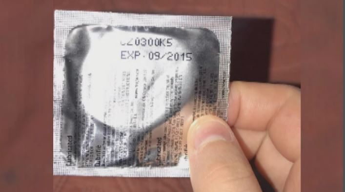 Students were given condoms that expired in 2015.