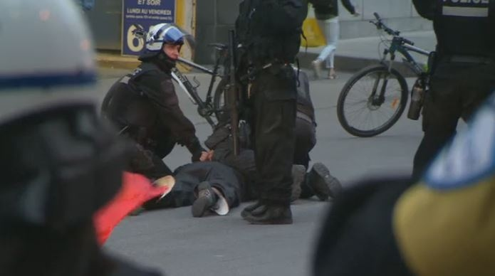 Police arrest protester at May Day demonstrations