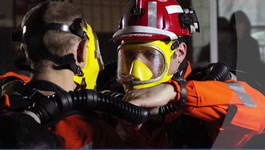 Mine rescue teams test several safety skills