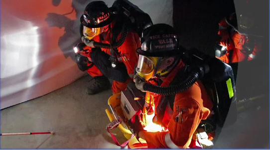 Rescue teams put firefighting skills to test