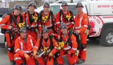Mine rescue team